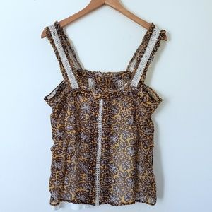 Anthropologie Tops - NWT Anthropologie Sleeveless Floral Boho Top SZ16